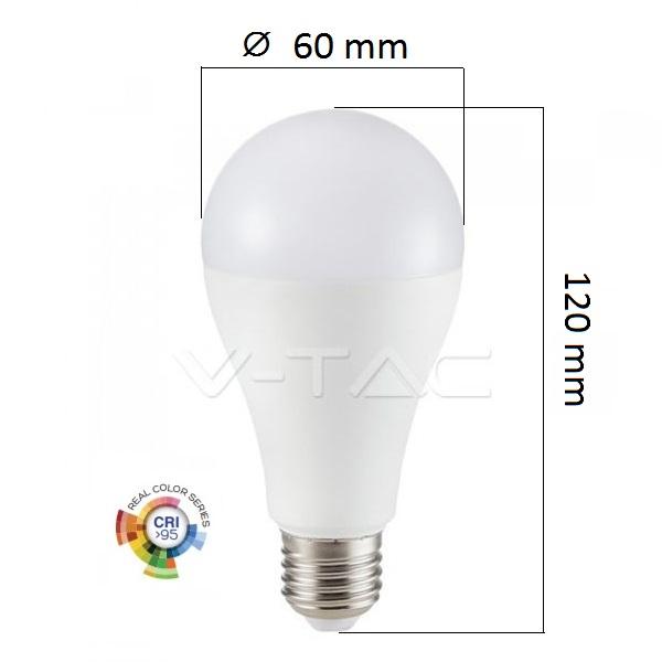 LED žárovky E27 12W 1055lm Ra95 denní, ekvivalent 75W