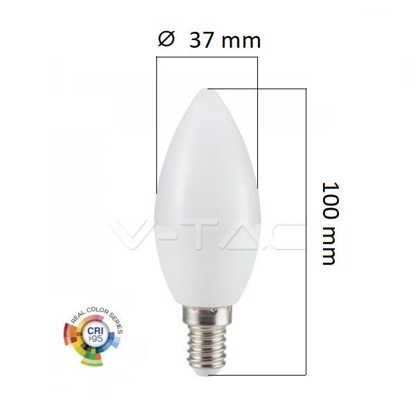 LED žárovka E14 5,5W 470lm Ra95 denní, ekvivalent 40W