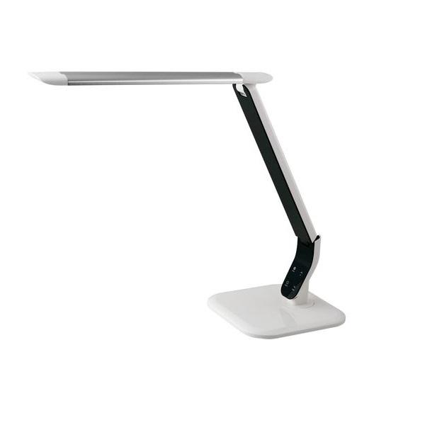 Stmívatelná LED stolní lampička 10W, 3 barvy světla, stříbrná