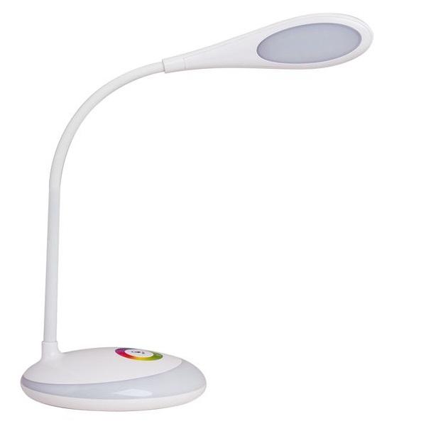 Nabíjecí stmívatelná  LED stolní lampička 6W denní světlo, RGB podstavec