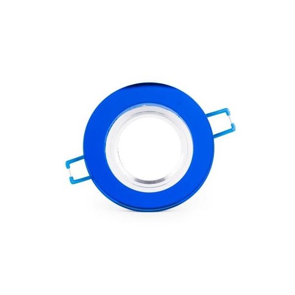 Podhledové bodové svítidlo sklo modré