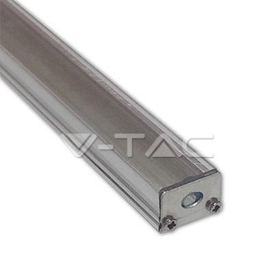 Sada: Hliníkový profil pro 8mm LED pásky 1m čirý kryt