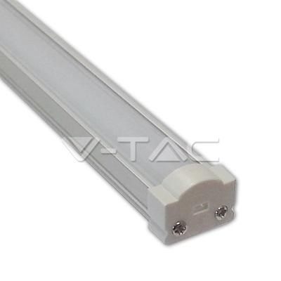 Sada: Hliníkový profil pro 8mm LED pásky  1m mléčný kryt