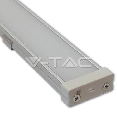 Sada: Hliníkový  profil pro 10mm LED pásky  1m mléčný kryt