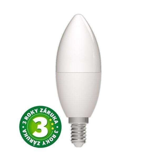 Prémiová LED žárovka E14 8W 830lm, studená, 3 roky