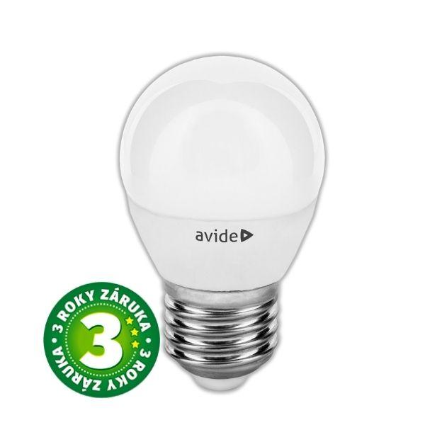 Prémiová LED žárovka E27 6W 450lm G45 teplá 2700 K, 3 roky