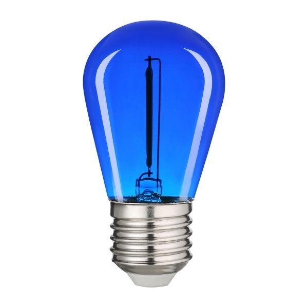 Retro barevná LED žárovka E27 0,6W 50lm modrá, filament