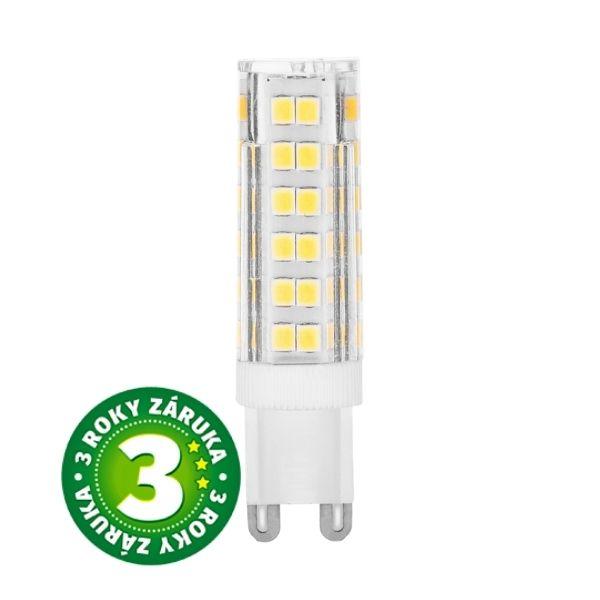 Prémiová LED žárovka G9 4,5W 420lm, studená, 3 roky