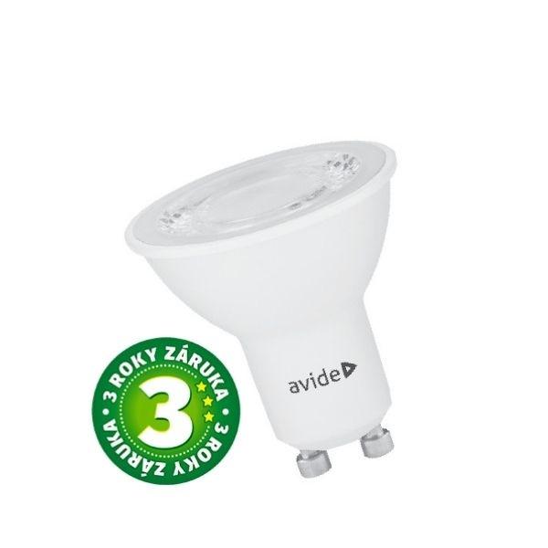 Prémiová LED žárovka GU10 6W 380lm teplá 40°, 3 roky