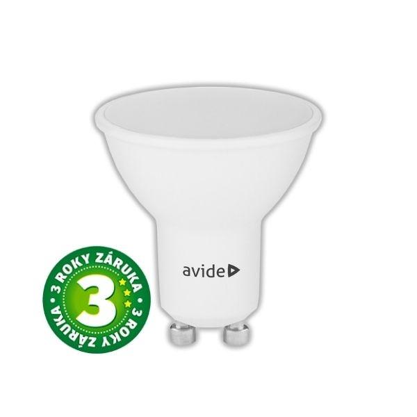 Prémiová LED žárovka GU10 7W 630lm, studená, 3 roky