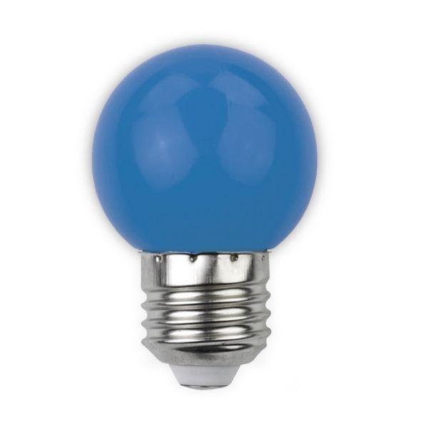 Barevná LED žárovka E27 1W 30lm modrá