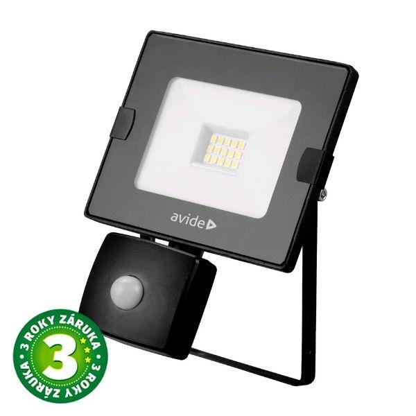 Prémiový ultratenký LED reflektor s čidlem pohybu bílý  10W 800lm, denní, 3 roky