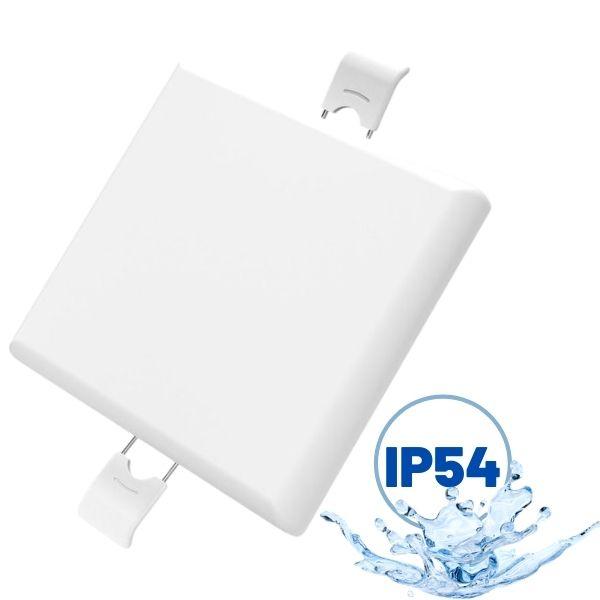 Bezrámový LED panel 9W 760lm 9x9cm IP54, teplé světlo,  čtvercový