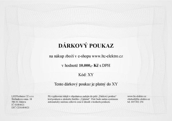 Dárkový poukaz na 10.000,- Kč ltc-elektro.cz