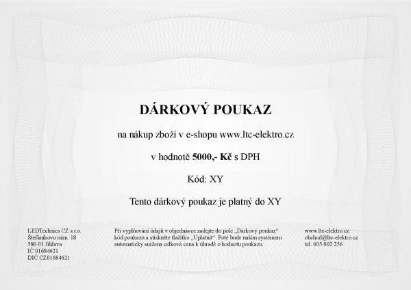 Dárkový poukaz na 5.000,- Kč ltc-elektro.cz