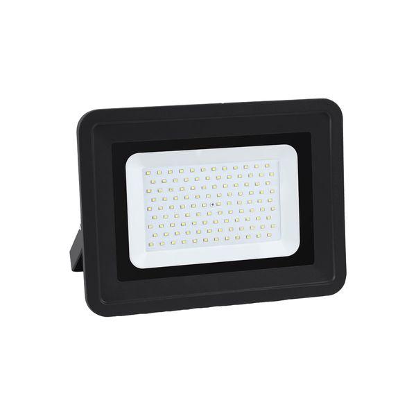 Ultratenký LED reflektor černý   100W 8500lm, studená