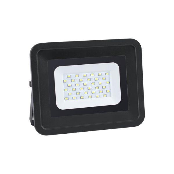 Ultratenký LED reflektor černý  30W 2550lm teplá
