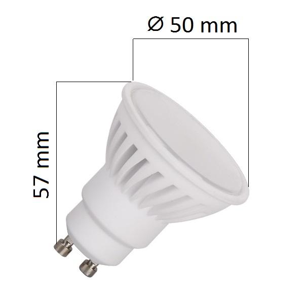 LED žárovka GU10 8W 640lm teplá, ekvivalent 55W