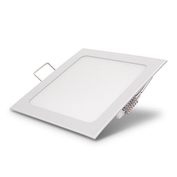 Vestavný LED panel 3W 150lm 8,5x8,5cm teplé světlo,  čtvercový