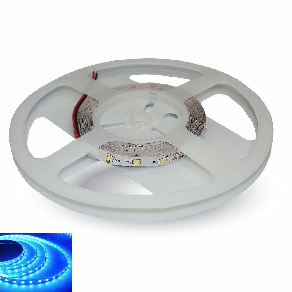 LED pásek 60x3528 smd 4,8W/m, modrá, délka 5m