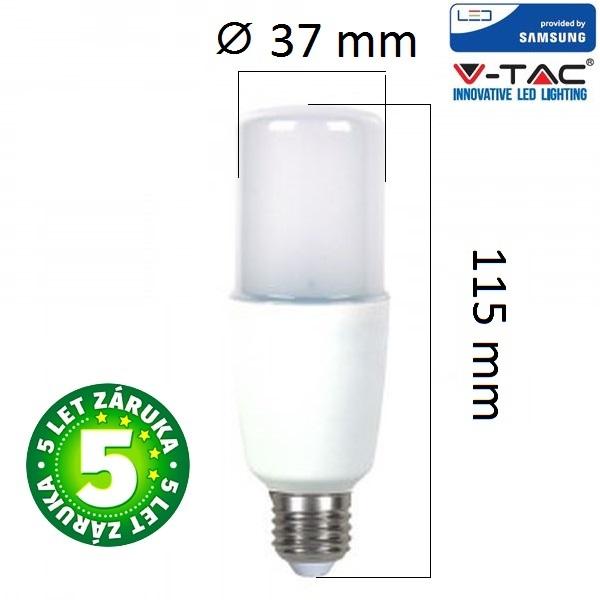 Prémiová LED žárovka E27 SAMSUNG čipy 8W 725lm, denní, 5 let