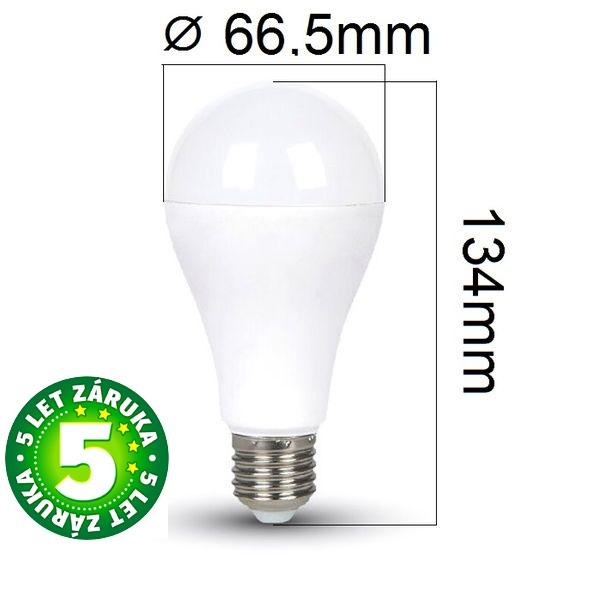 Prémiová LED žárovka E27 SAMSUNG čipy 15W 1250lm, studená