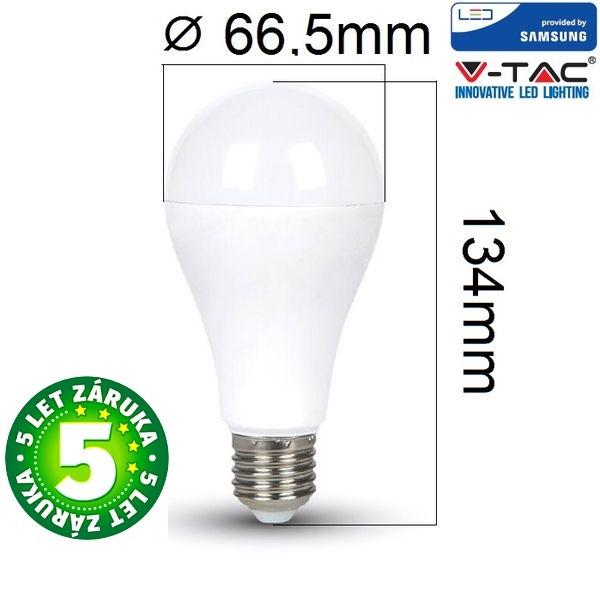 Prémiová LED žárovka E27 SAMSUNG čipy 15W 1250lm, denní, 5 let
