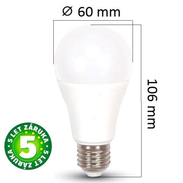Prémiová LED žárovka E27 SAMSUNG čipy 11W 975lm, studená
