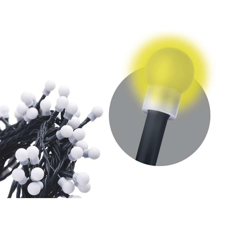 LED vánoční řetěz 6W teplé světlo, 20m, voděodolný, časovač