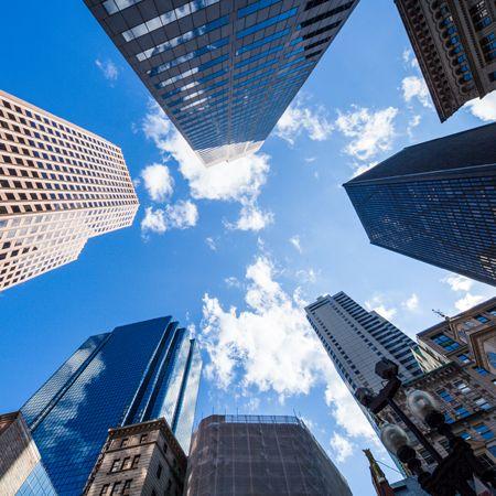 LED panel s motivem mrakodrapů 48W 3300lm 60x60 cm denní