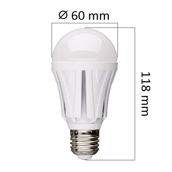 LED  žárovka E27 10W 750lm teplá, ekvivalent 60W