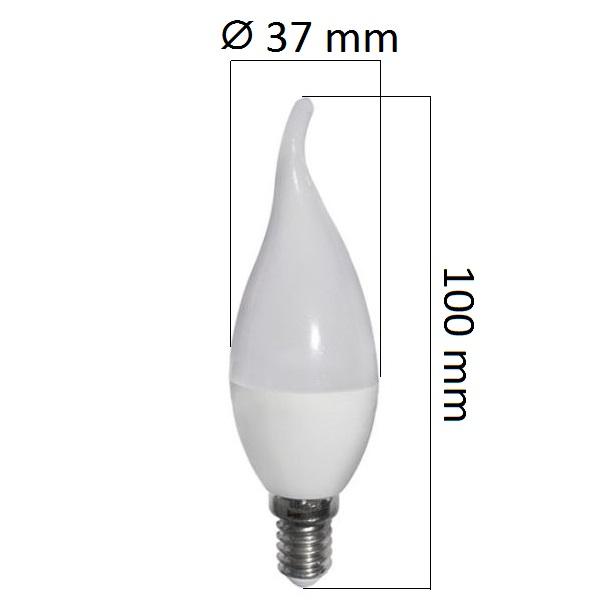LED  žárovka  E14 6W 480lm teplá, ekvivalent 40W