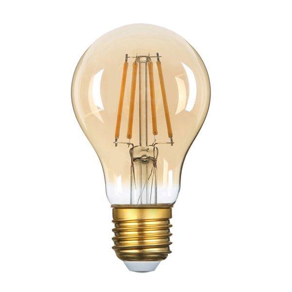 Stmívatelná retro LED žárovka E27 8W 810lm extra teplá, filament,  ekvivalent 54W