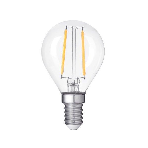 Stmívatelná Retro  LED žárovka E14 4W 400lm G45 teplá, filament, ekvivalent 27W