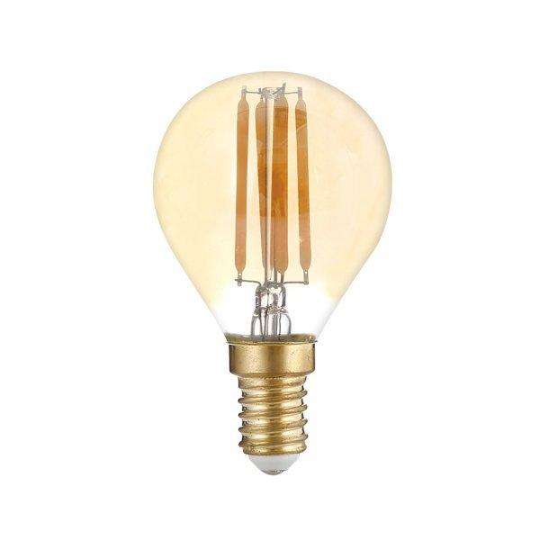 Stmívatelná Retro  LED žárovka E14 4W 350lm G45 extra teplá, filament, ekvivalent 27W