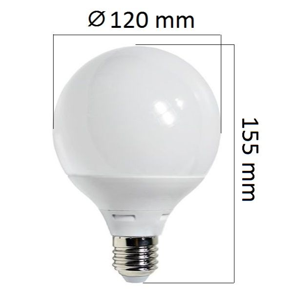LED  žárovka E27 12W 960lm G95, studená, ekvivalent 75W