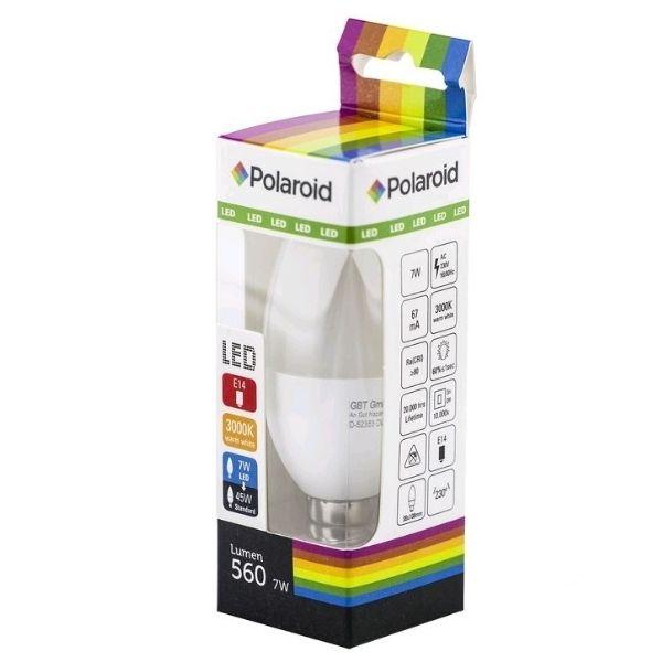 Polaroid LED žárovka E14 7W 560lm teplá, ekvivalent 45W