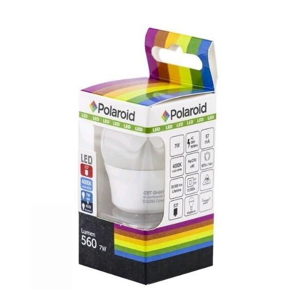 Polaroid LED žárovka E27 7W 560lm G45 denní, ekvivalent 45W