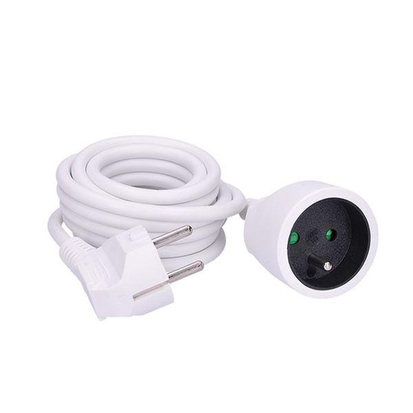 Prodlužovací kabel - spojka, 1  zásuvka, bílá, 3m