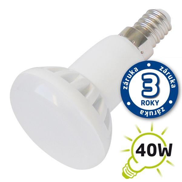 LED žárovka E14 5W 400lm R50 teplá, ekvivalent 40W