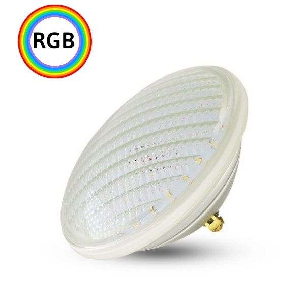 LED bazénová žárovka PAR56 12W 1200lm 12V RGB, IP68 s ovladačem