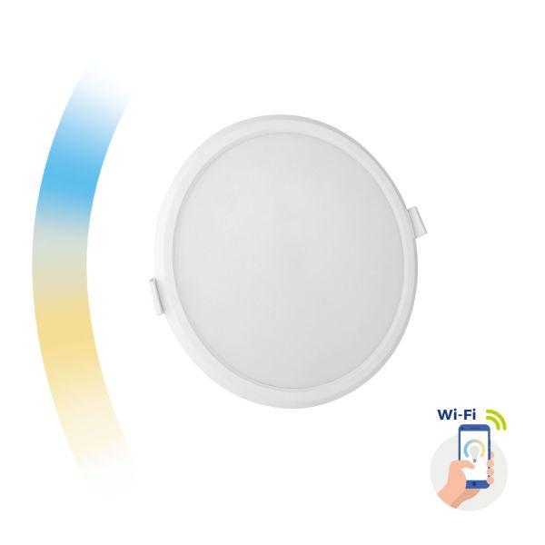 Chytrý LED panel 12W 1150lm WIFI teplá, denní, studená (SMART), kruhový