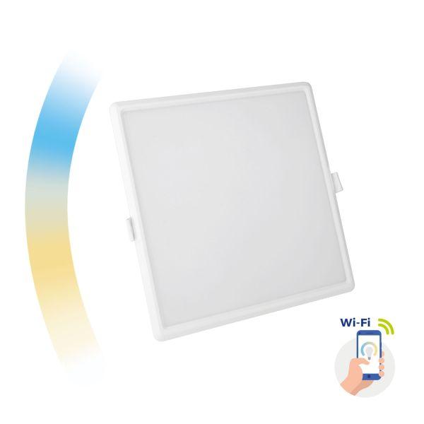Chytrý LED panel 22W 2000lm WIFI teplá, denní, studená (SMART), čtvercový