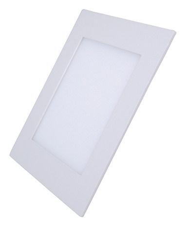 LED mini panel, podhledový, 18W, 1530lm, 4000K,  tenký, čtvercový, bílé
