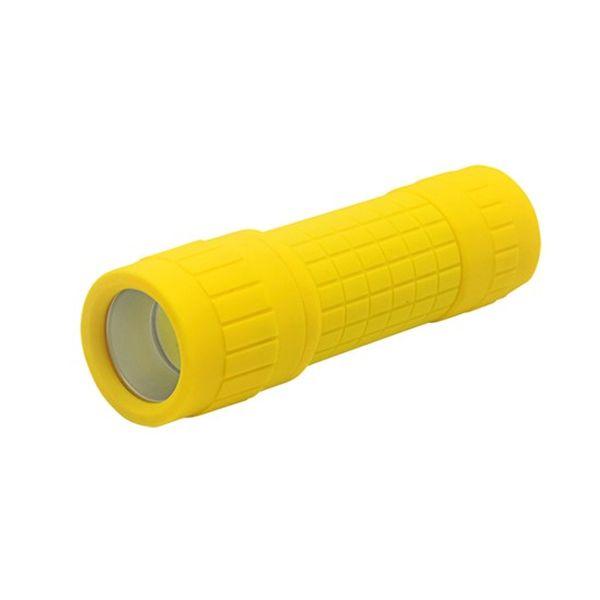 LED Svítilna, 3W  LED COB, 120lm, 3 x AAA žlutá