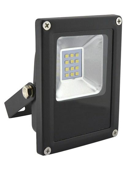 Ultratenký LED venkovní reflektor, 10W, 600lm, studený, černý