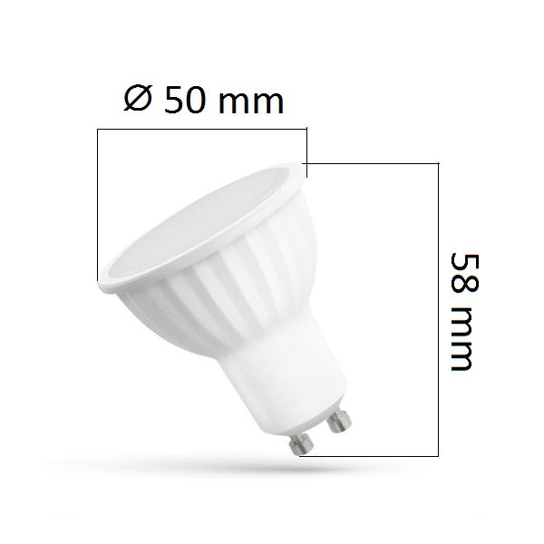 LED žárovka GU10 10W 780lm teplá, ekvivalent  60W