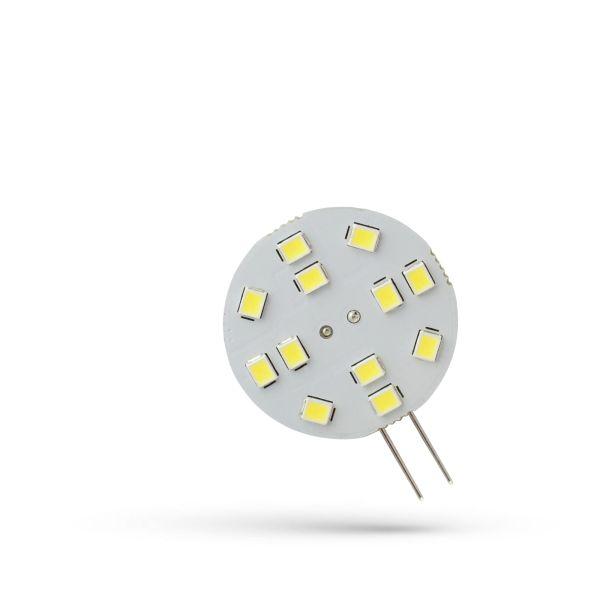 LED žárovka G4 2W 230lm 12V, studená, ekvivalent 23W