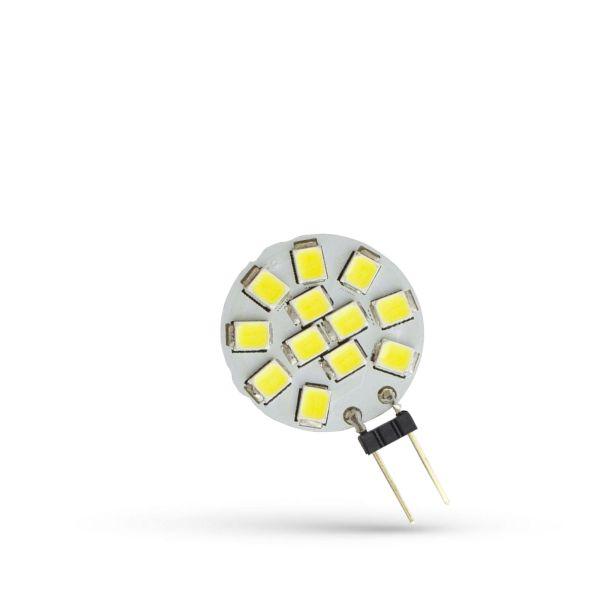 LED žárovka G4 1,2W 130lm 12V, studená, ekvivalent 15W