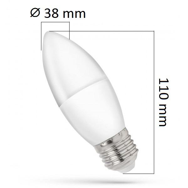 LED žárovka E27 8W 620lm teplá, ekvivalent 50W